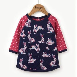 Hatley Bunny Hop Quilted Dress - Size 12-18 months